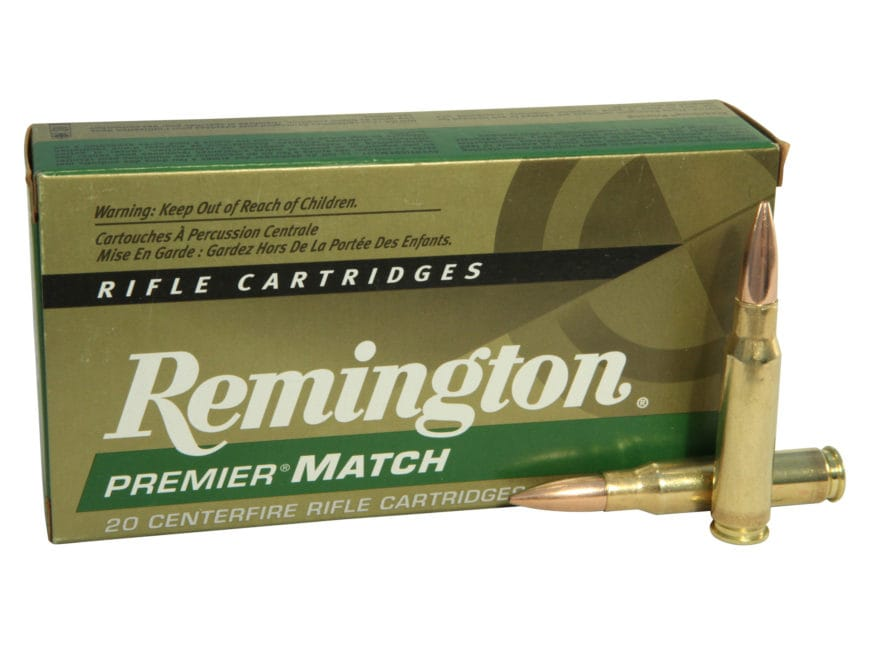 Remington Premier Match Ammunition 308 Winchester 168 Grain Sierra MatchKing Hollow Poi...