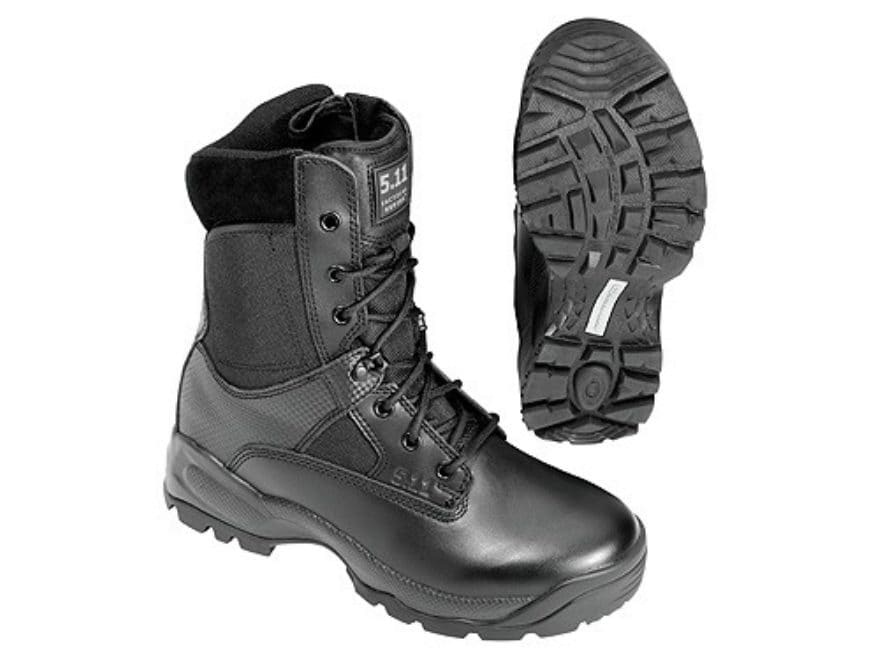 """5.11 ATAC Storm 8"""" Waterproof Tactical Boots Leather and Nylon Side Zip Black Men's"""