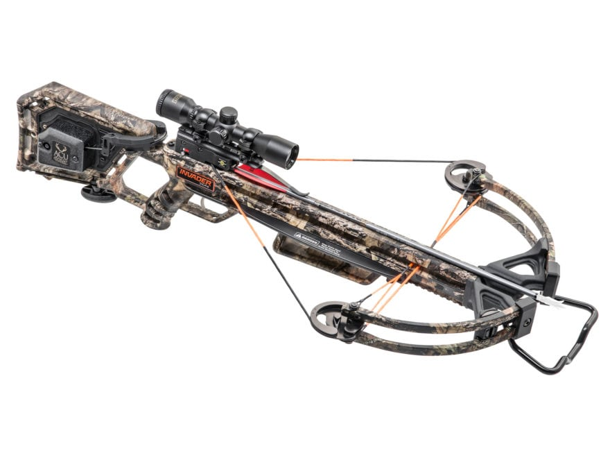 Wicked Ridge Invader X4 Crossbow Package with Multi-Line Scope and ACUdraw 50 Mossy Oak...
