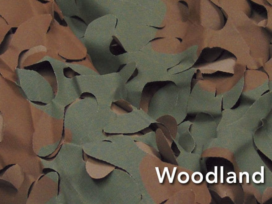 """Camo Unlimited Broad Leaf Ultra-Lite Blind Material 60"""" x 15' Polyester Woodland Camo"""