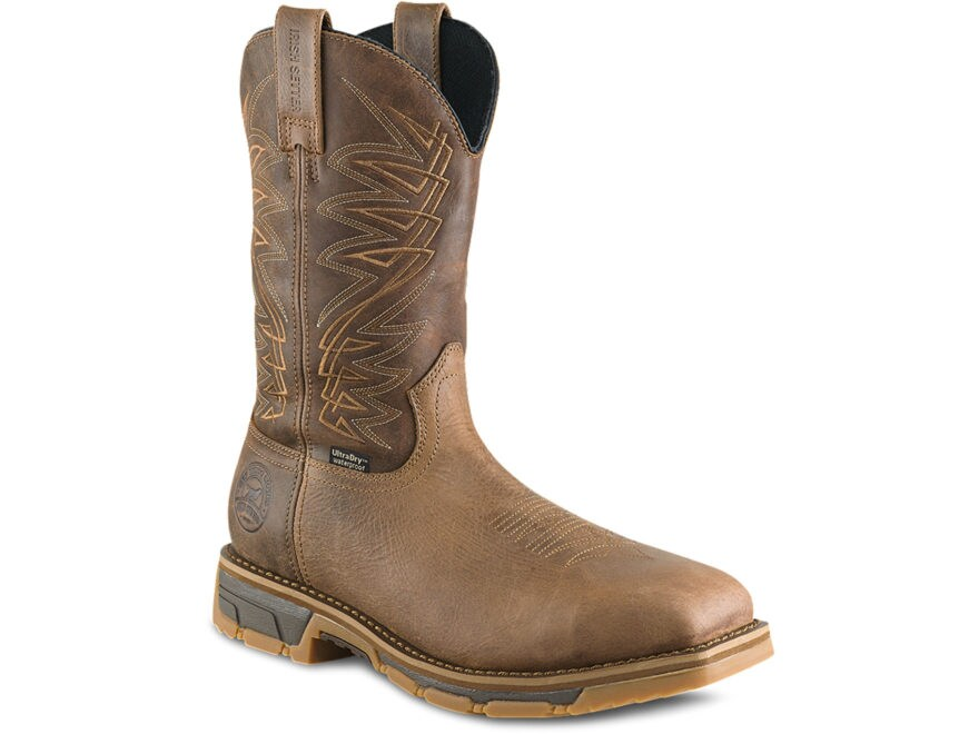 "Irish Setter Marshall 11"" Square Steel Toe Work Boots Leather Men's"