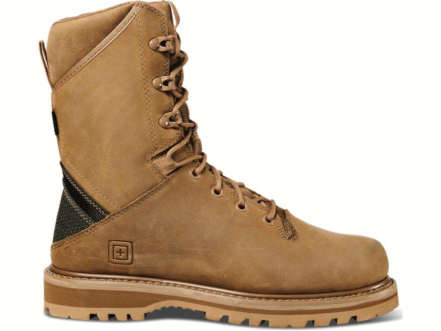 "5.11 Apex 8"" Waterproof Tactical Boots Leather/Kevlar/Nylon Men's"