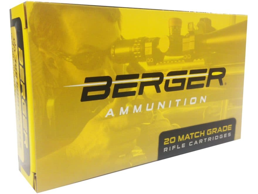 Berger Match Grade Ammunition 308 Winchester 155.5 Grain Fullbore Target Box of 20