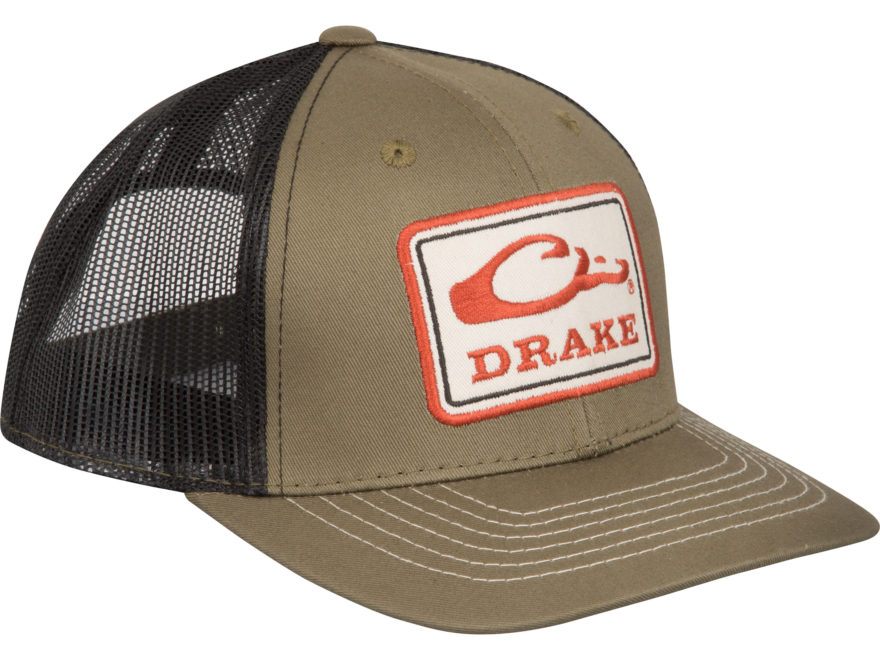 Drake Men's Square Patch Mesh Back Cap Polyester