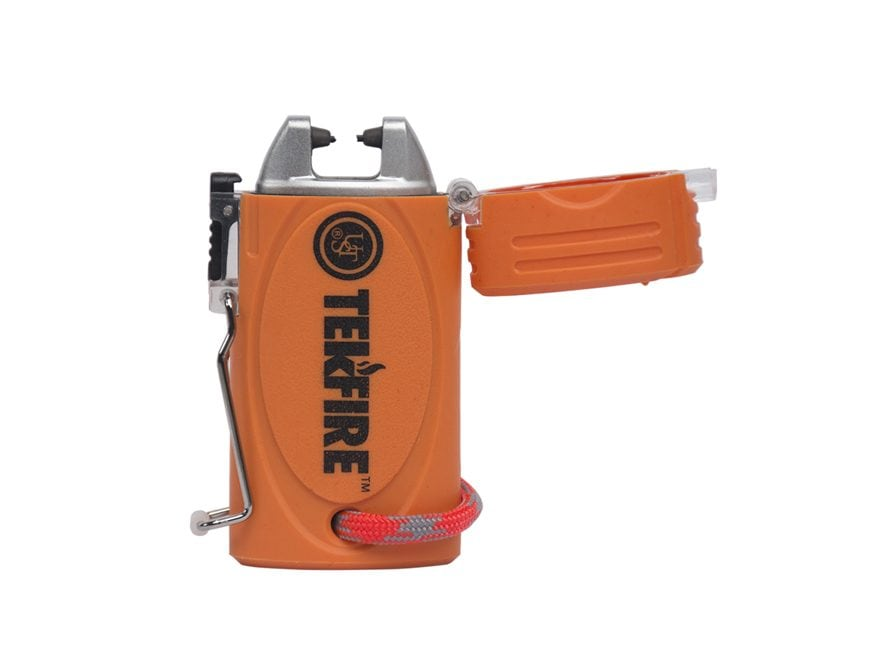 UST TekFire Pro Fuel-Free WindProof Electronic Lighter Orange