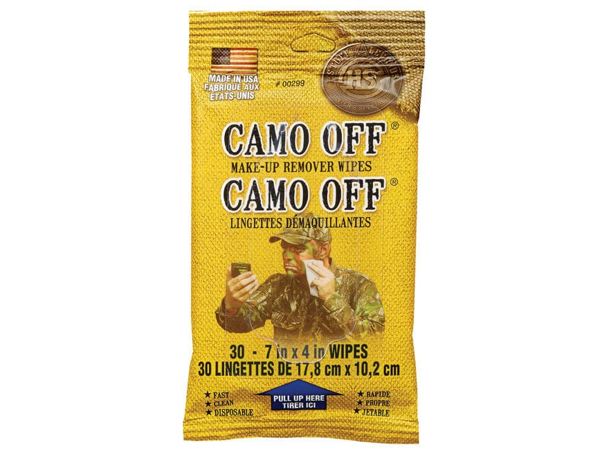 Hunter's Specialties Camo-Off Face Paint Removal Wipes Pack of 30