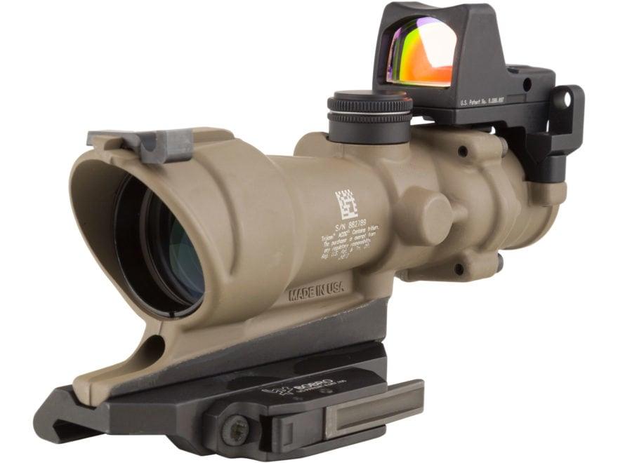 Trijicon ACOG Rifle Scope 4x 32mm Tritium Illuminated Amber Crosshair 5.56 Reticle with...