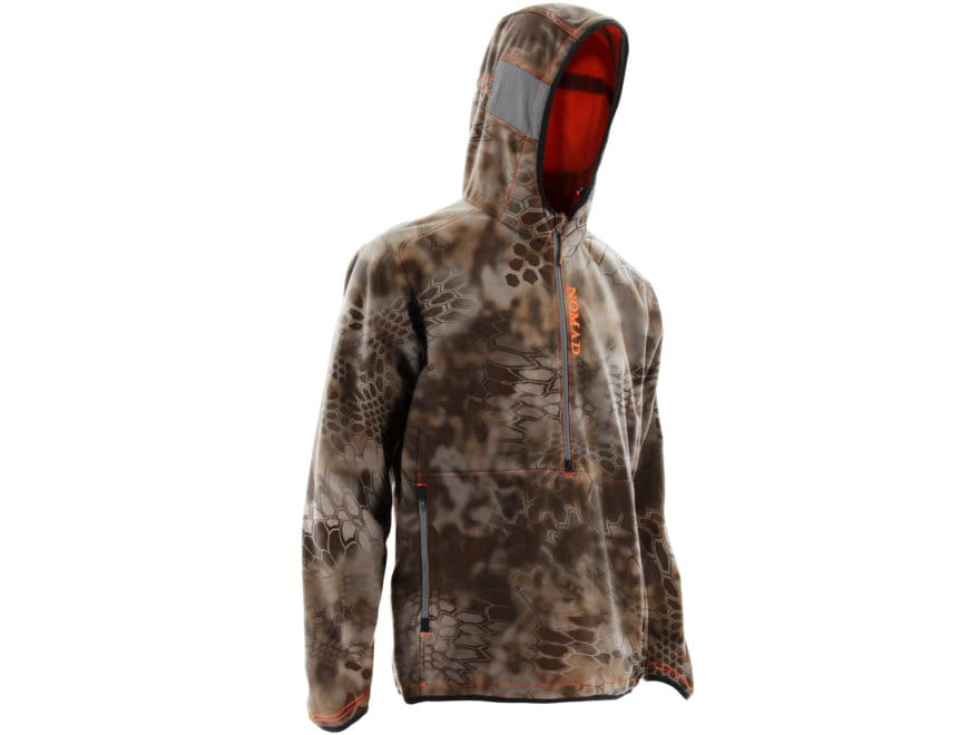 fa6d767646f46 Nomad Men's Syncrate Windproof Scent Control 1/2 Zip Hoodie Polyester