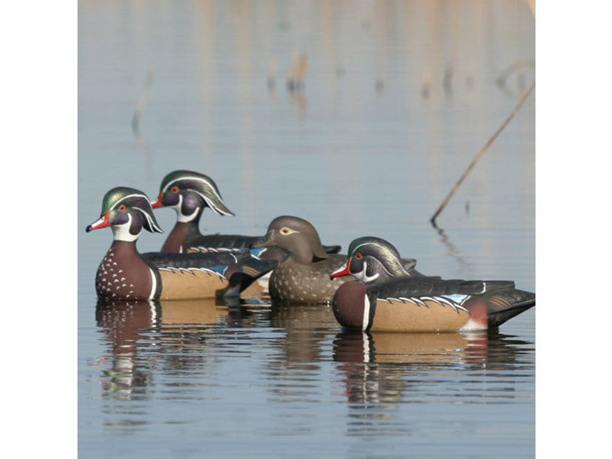 GHG Pro-Grade Wood Duck Decoy Pack of 6
