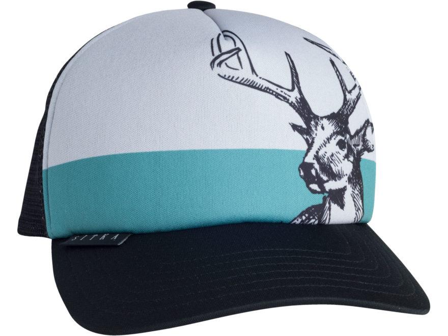 Sitka Gear Field Sketch Whitetail Foam Trucker Hat Polyester Sitka Black One Size Fits All