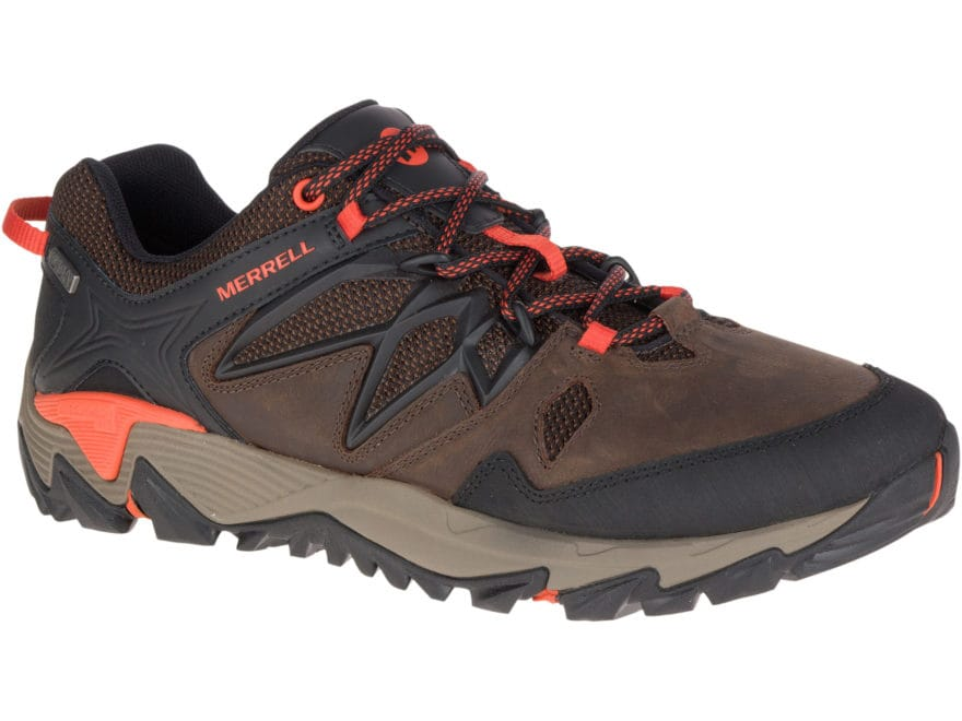 """Merrell All Out Blaze 2 4"""" Waterproof Hiking Shoes Leather/Nylon Men's"""