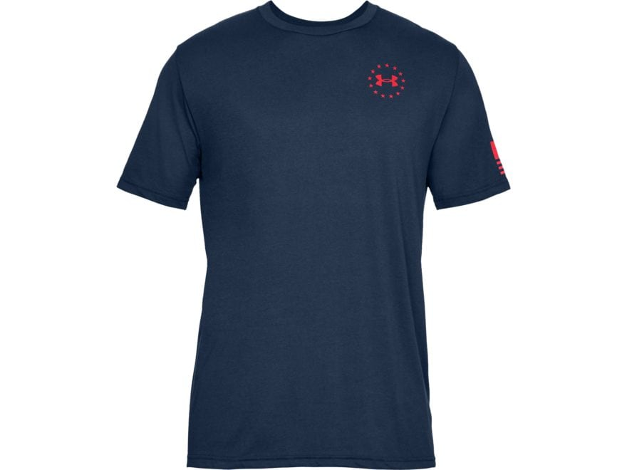 Under Armour Men's Freedom Flag T-Shirt Short Sleeve Charged Cotton