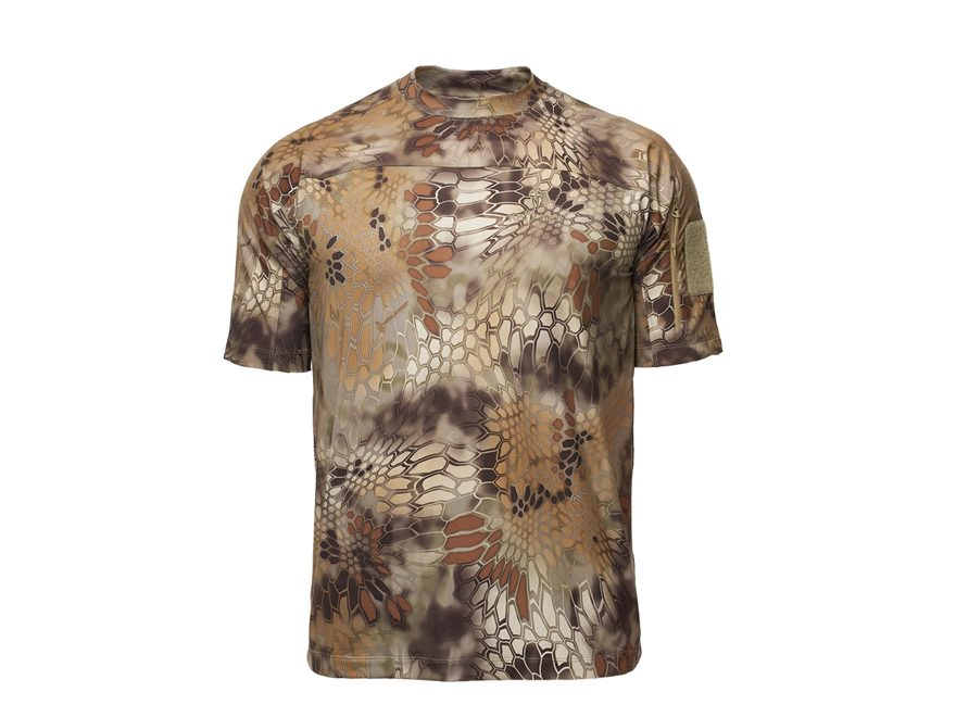 Kryptek Men's Valhalla Crew Short Sleeve Shirt Polyester/Spandex