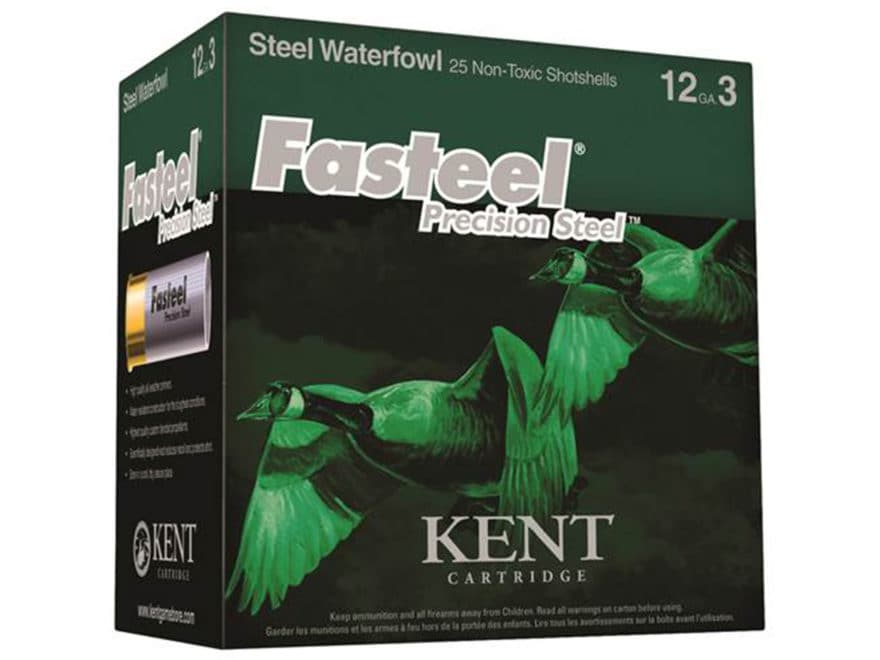 Kent Cartridge Fasteel Precision Steel Waterfowl Ammunition 12 Gauge Non-Toxic Steel Shot