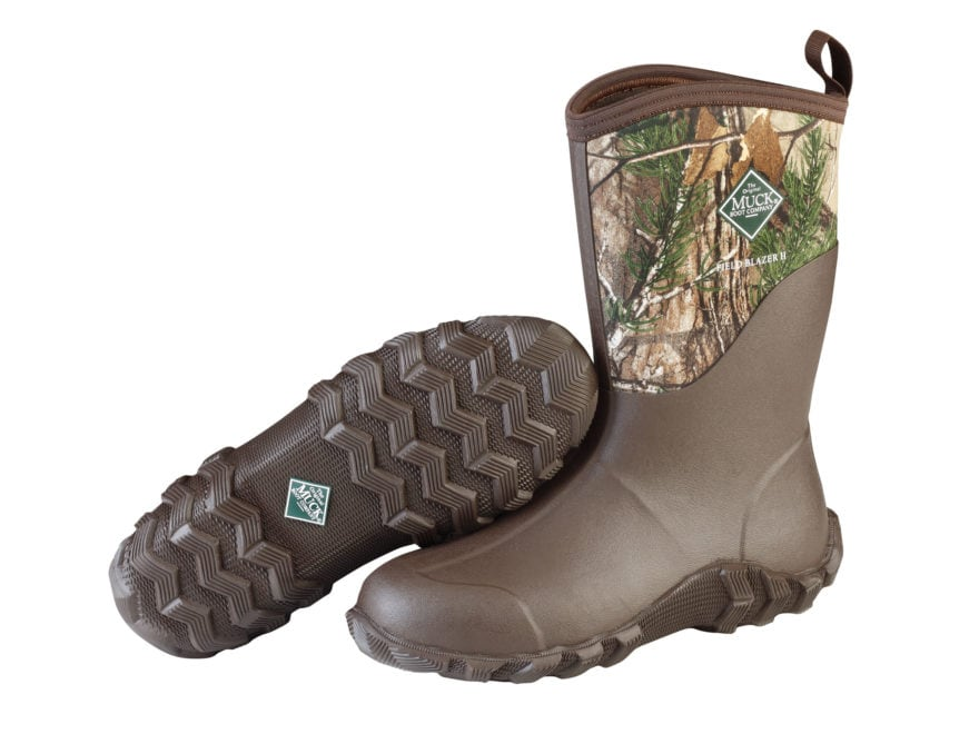"Muck Fieldblazer II Mid 13"" Hunting Boots Rubber and Nylon Realtree Xtra Camo Men's"