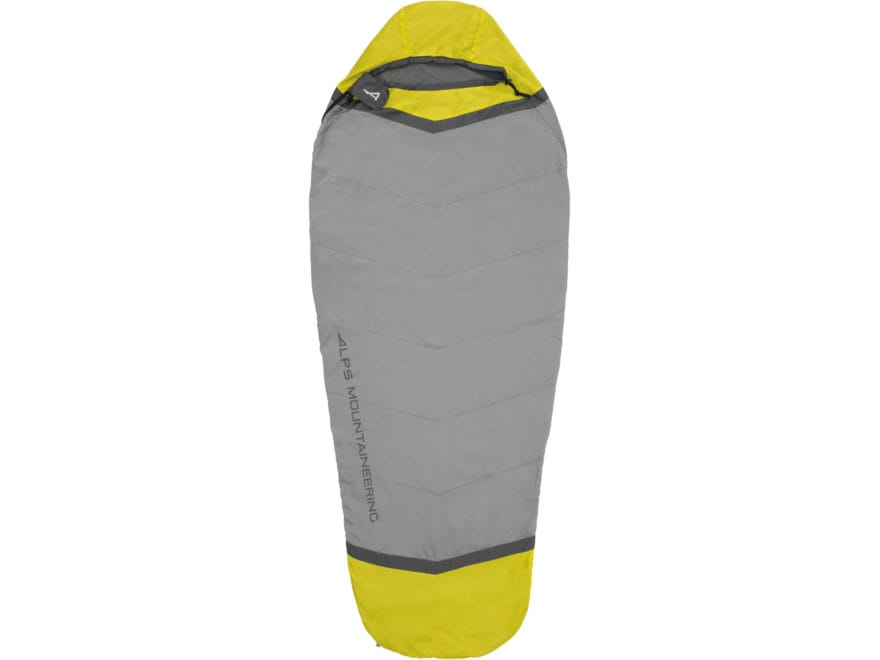 ALPS Mountaineering Twilight Mummy Sleeping Bag Liner Polyester Citrus/Coal