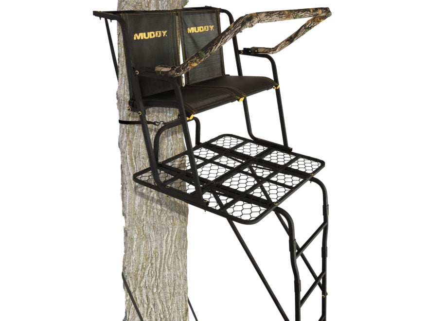 Muddy Outdoors The Partner 17' Double Ladder Treestand Steel Black