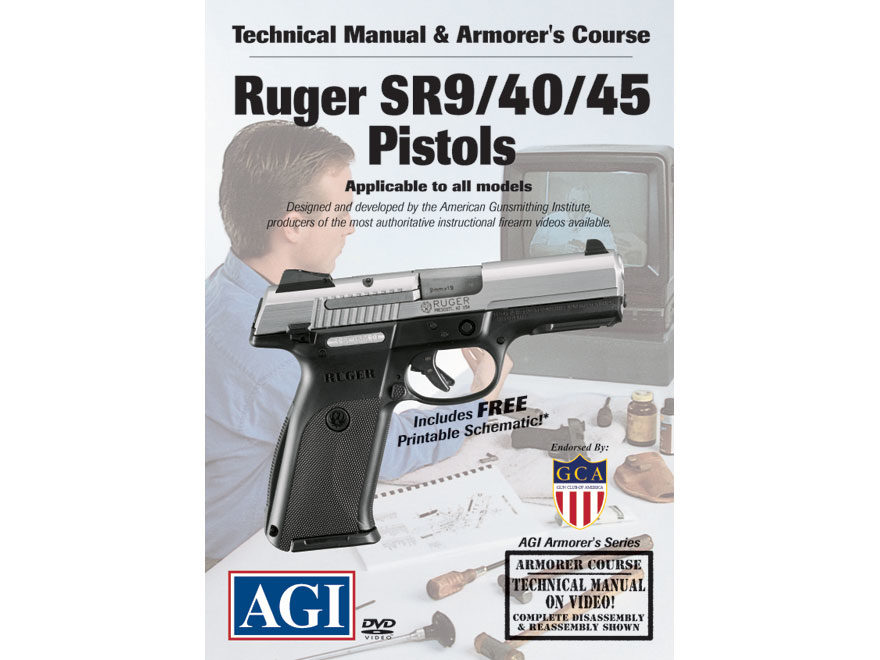 "American Gunsmithing Institute (AGI) Technical Manual & Armorer's Course Video ""Ruger S..."