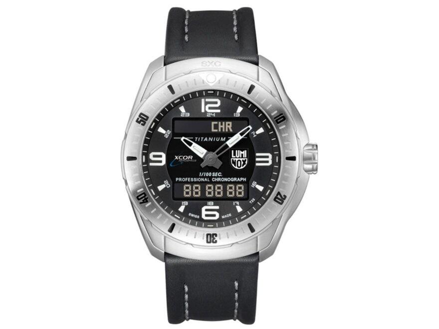 Luminox XCOR/SXC Pilot Professsional Analog/Digital Watch Titanium/Leather Black