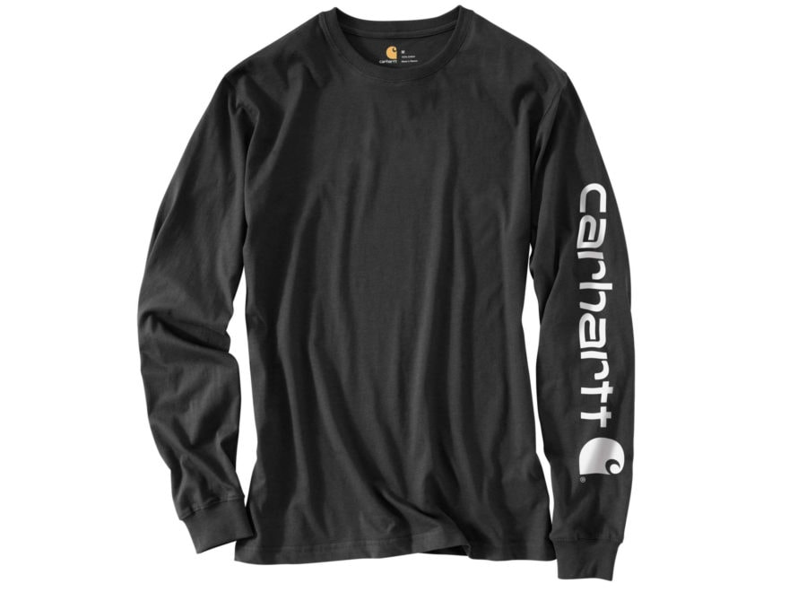 Carhartt Men's Signature Sleeve Logo T-Shirt Long Sleeve