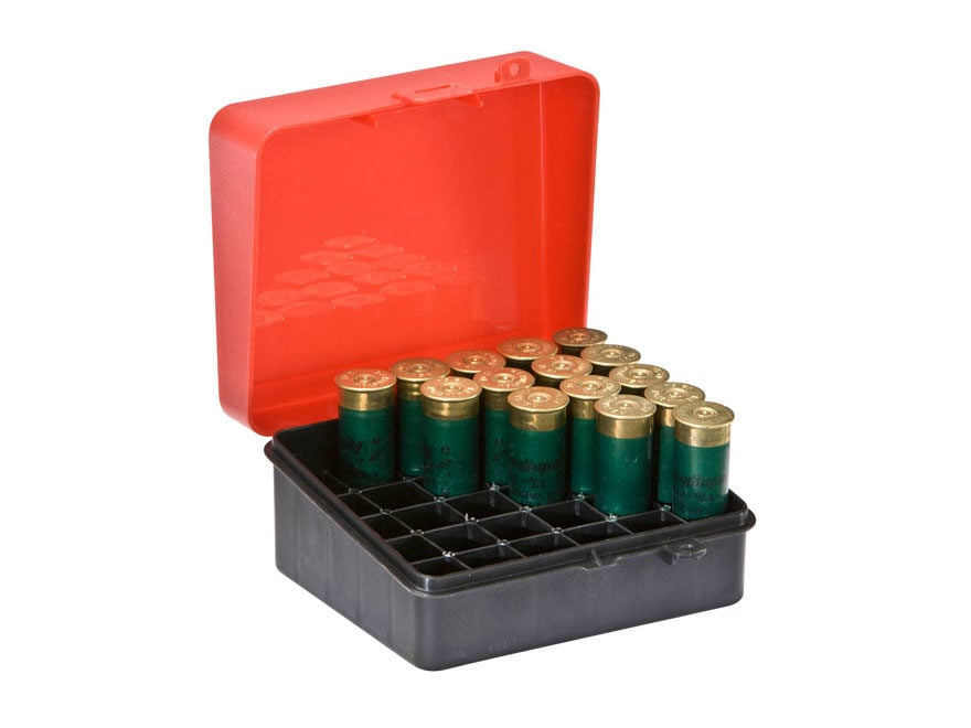 plano shotgun shell box 12 16 ga 25 round plastic red mpn 1216 01
