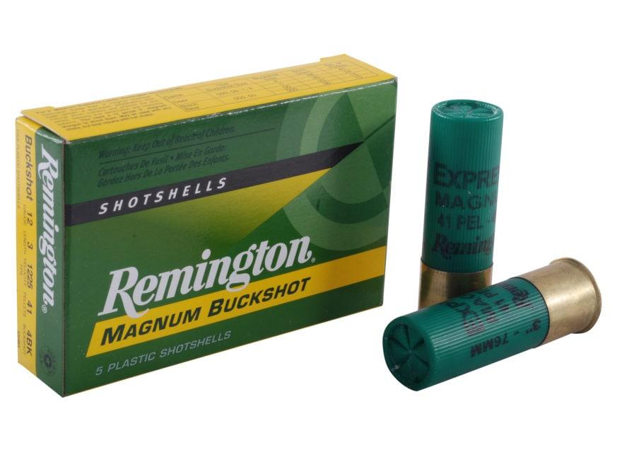 "Remington Express Ammunition 12 Gauge 3"" #4 Buckshot 41 Pellets Box of 5"