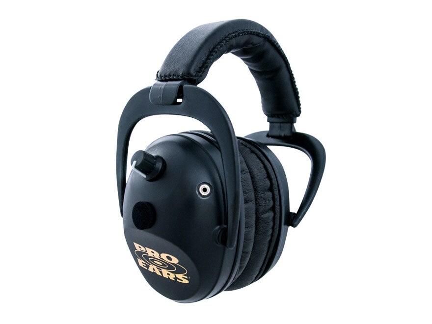 Pro Ears Predator Gold Electronic Earmuffs (NRR 26 dB) Black