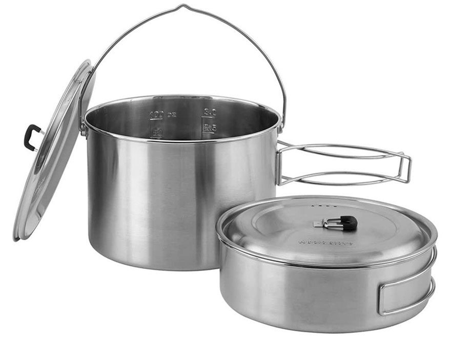 Solo Stove Campfire 2 Pot Set Stainless Steel