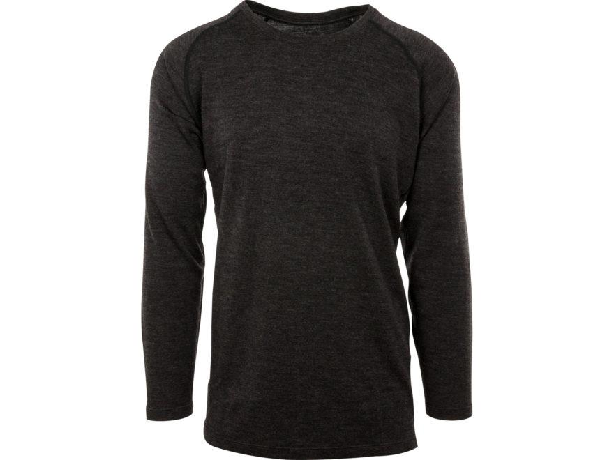 MidwayUSA Men's Mid-Weight Merino Wool Long Sleeve Base Layer Shirt