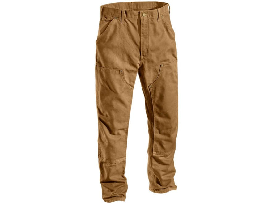 Carhartt Men's Firm Duck Double Front Work Dungaree Pants Cotton