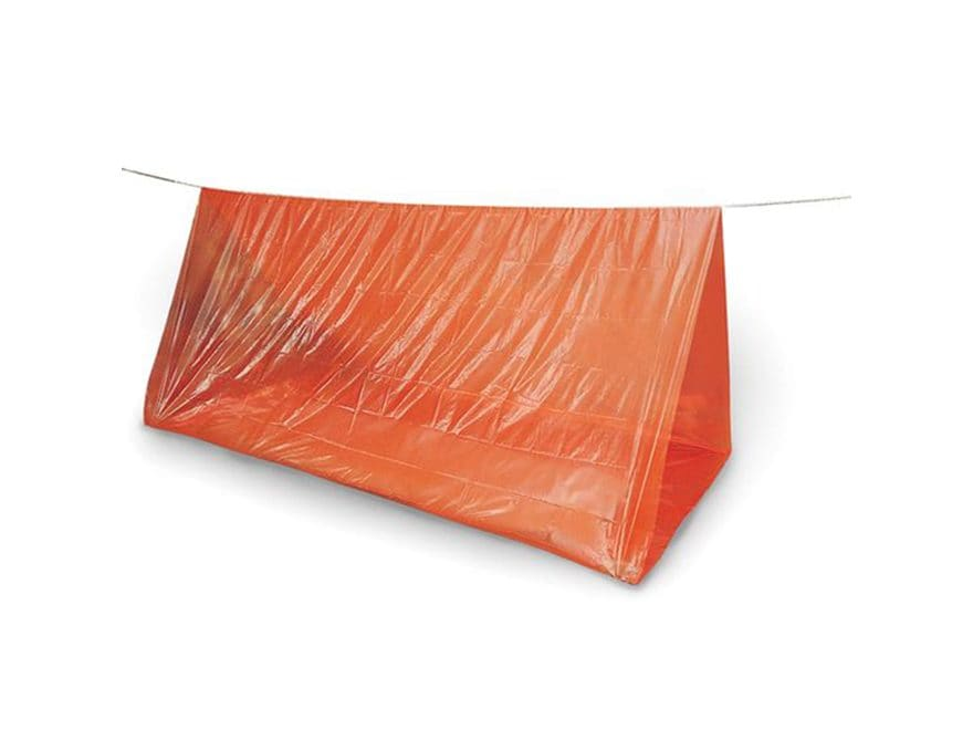 "Stansport Lightweight Emergency Tube Tent 96"" X 72"" X 36"" Vinyl Orange"