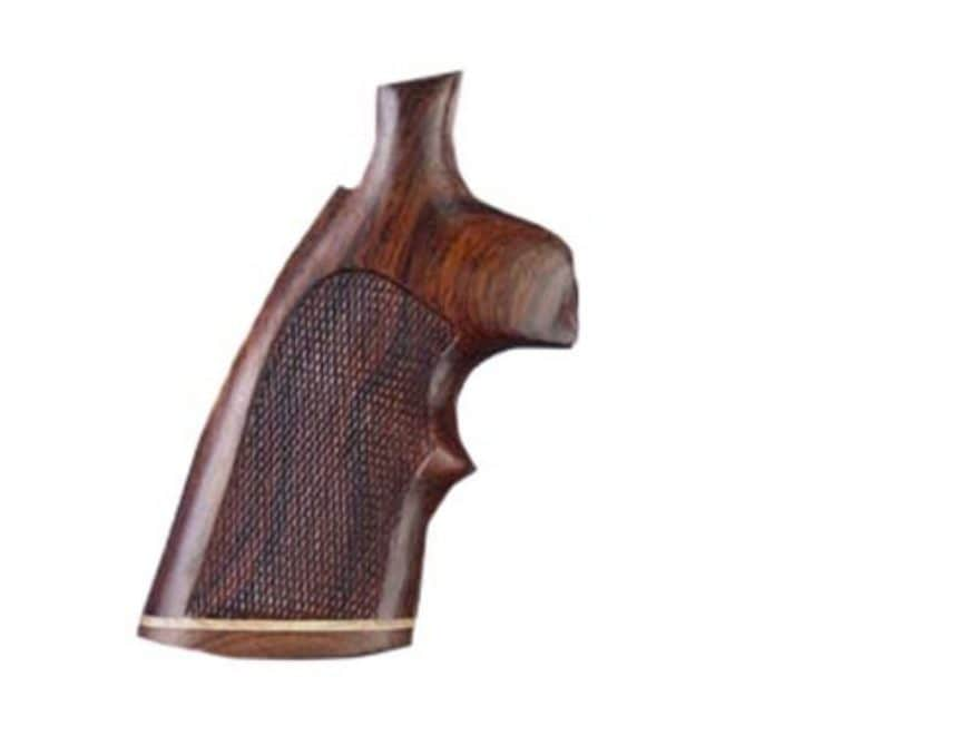 Hogue Fancy Hardwood Grips with Accent Stripe and Top Finger Groove Colt Detective Spec...