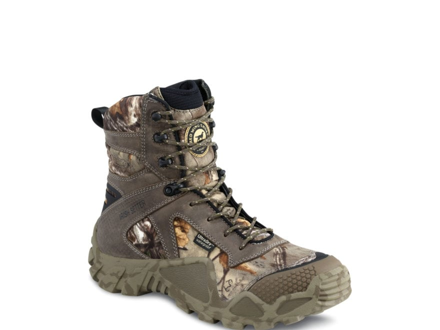 "Irish Setter VaprTrek 8"" Waterproof Hunting Boots Nylon and Leather Realtree Xtra Camo ..."