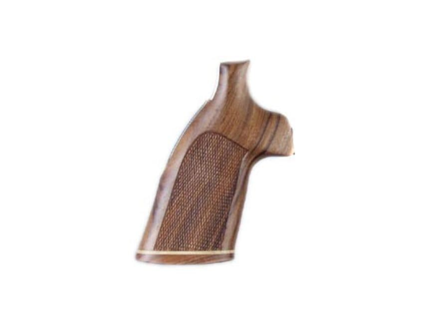 Hogue Fancy Hardwood Grips with Accent Stripe Ruger Redhawk Checkered