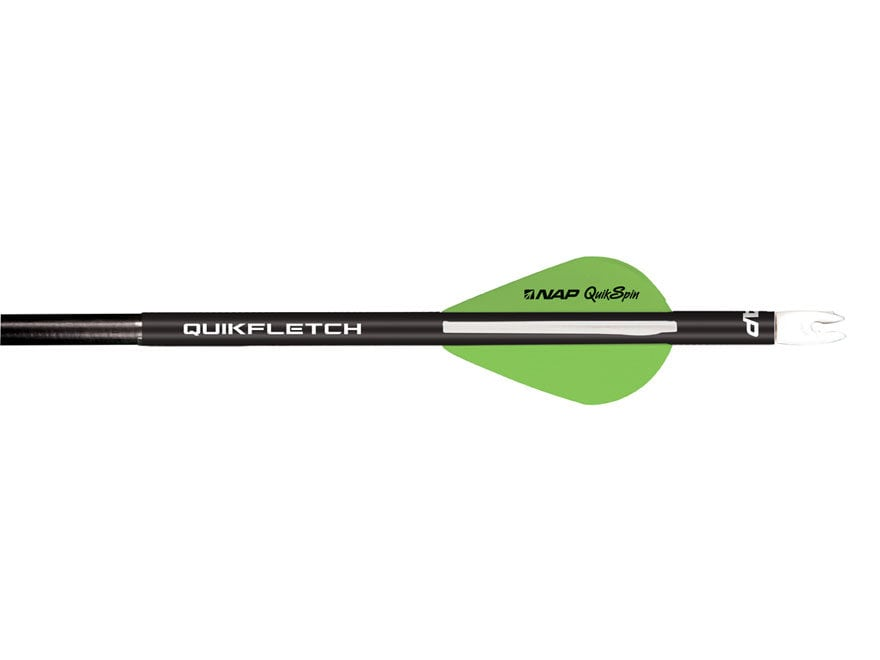 NAP Quikfletch Quikspin Arrow Fletching System Pack of 6