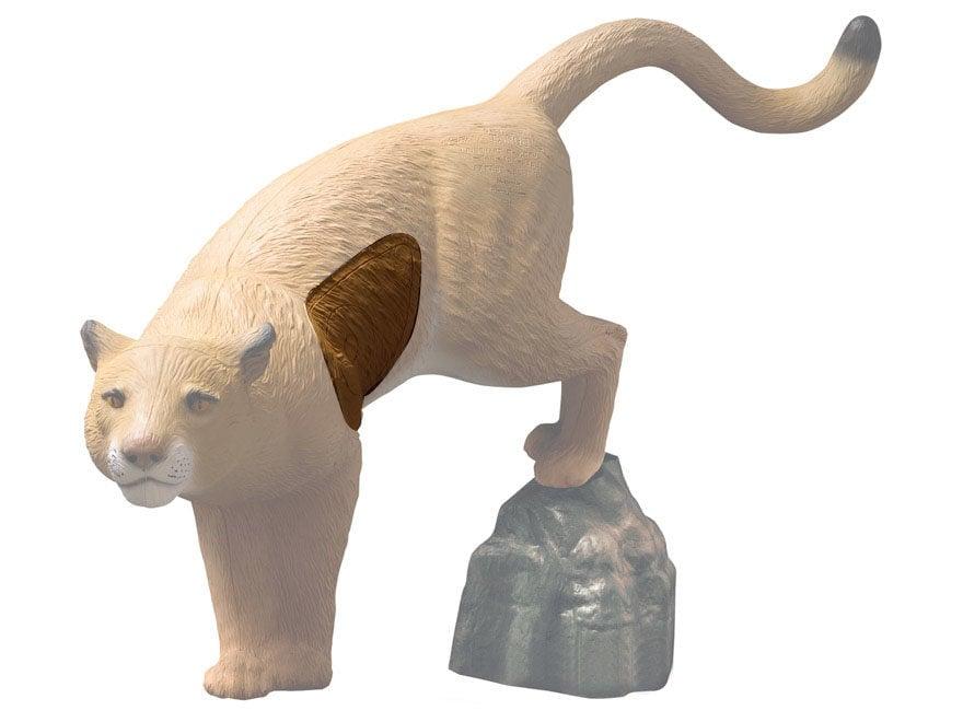 Rinehart Mountain Lion with Rock 3D Foam Archery Target Replacement Insert