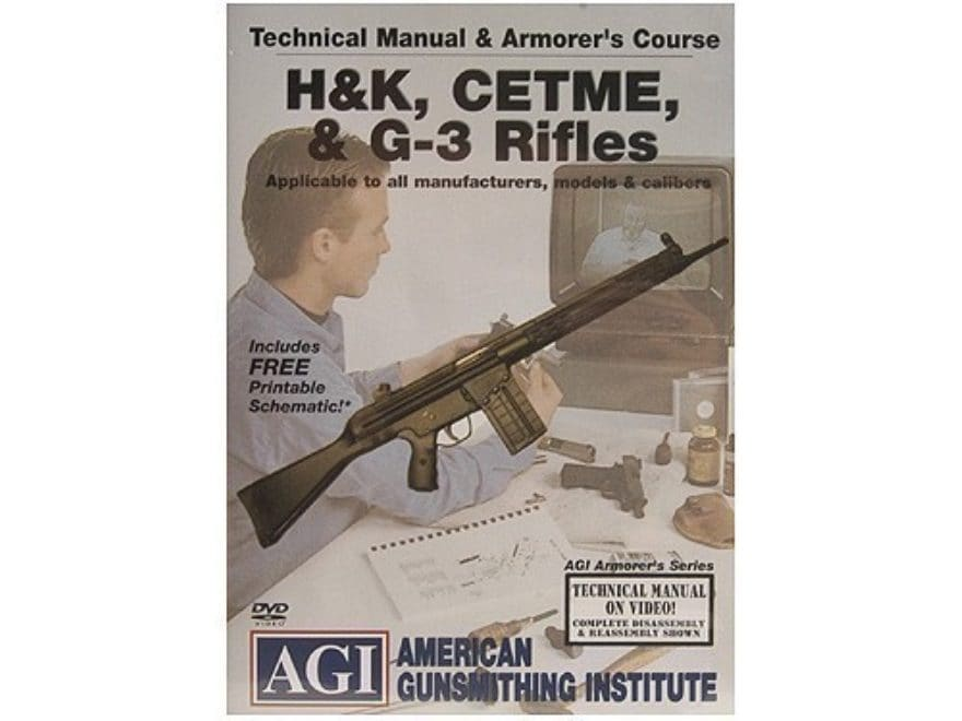 "American Gunsmithing Institute (AGI) Technical Manual & Armorer's Course Video ""HK, CET..."