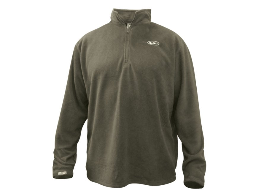Drake Men's Camp Fleece 1/4 Zip Pullover Polyester