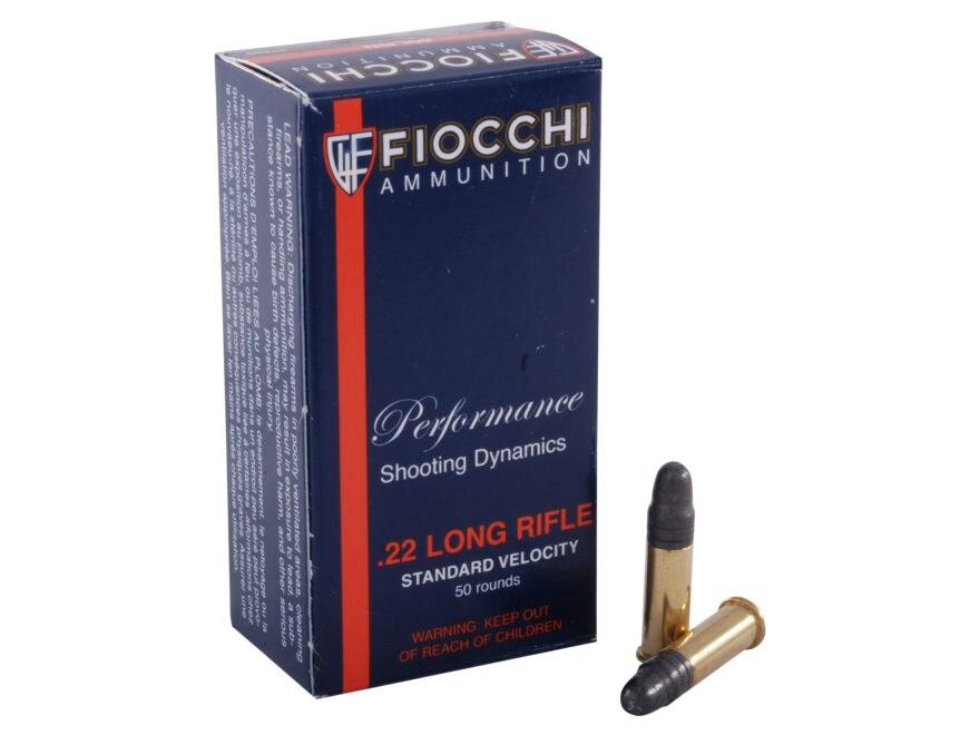 Fiocchi Ammunition 22 Long Rifle 40 Grain Lead Round Nose