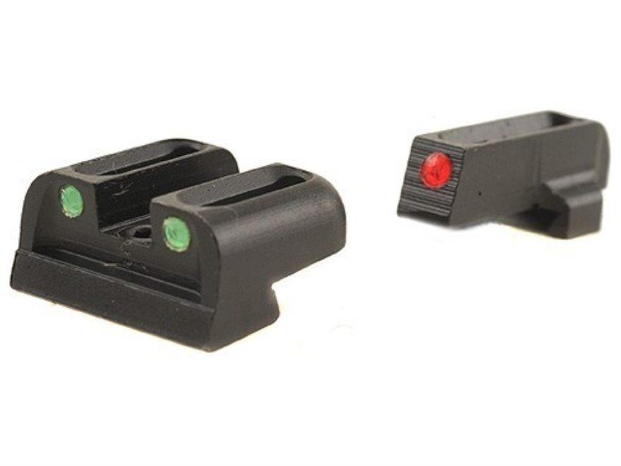TRUGLO Brite-Site Sight Set Sig Sauer #6 Front #8 Rear Steel Fiber Optic Red Front, Gre...