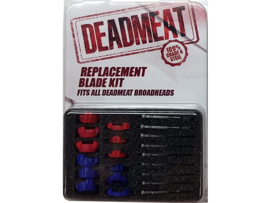 G5 Deadmeat 3-Blade Mechanical Broadhead Replacement Blade Stainless Steel Pack of 9