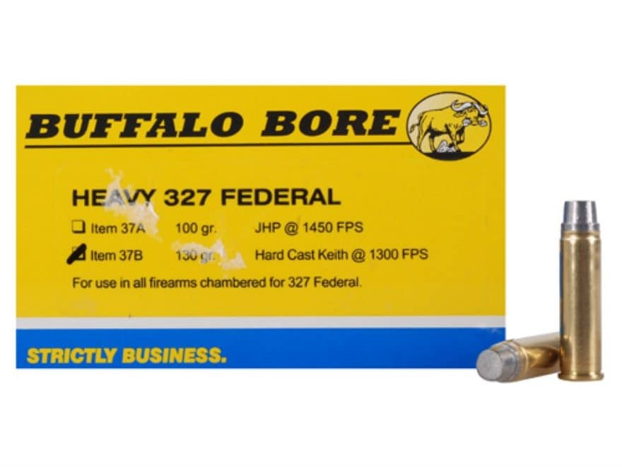 Buffalo Bore Ammo Outdoorsman 327 Federal Mag 130 Grain Hard Cast Lead