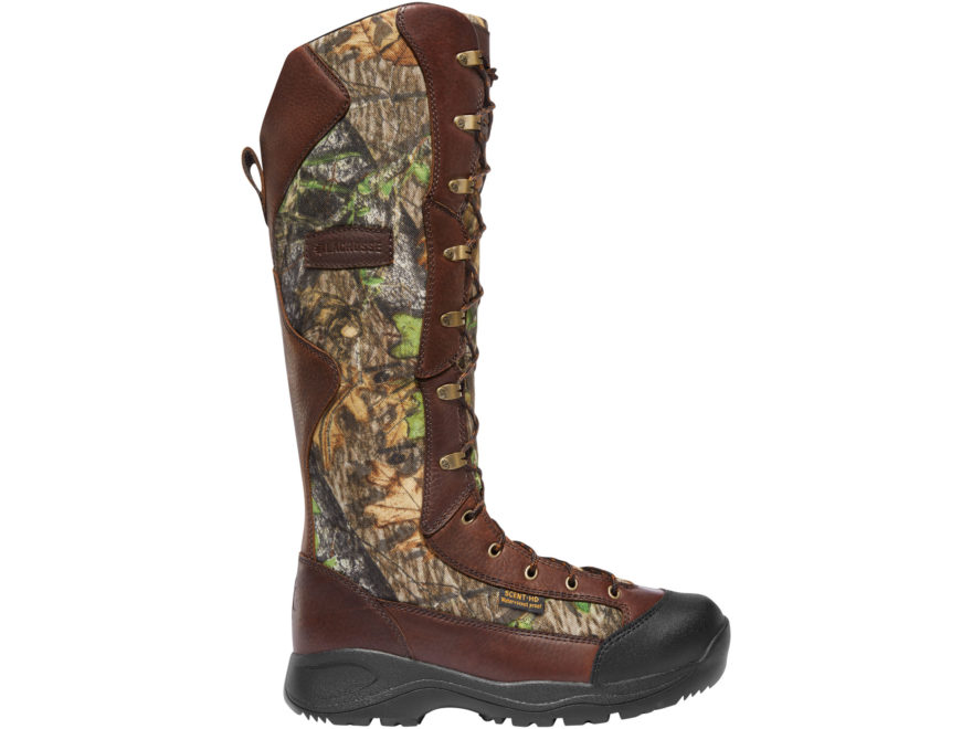 "LaCrosse Venom NWTF 18"" Snake Boots Leather and Nylon Mossy Oak Obsession Camo Men's"