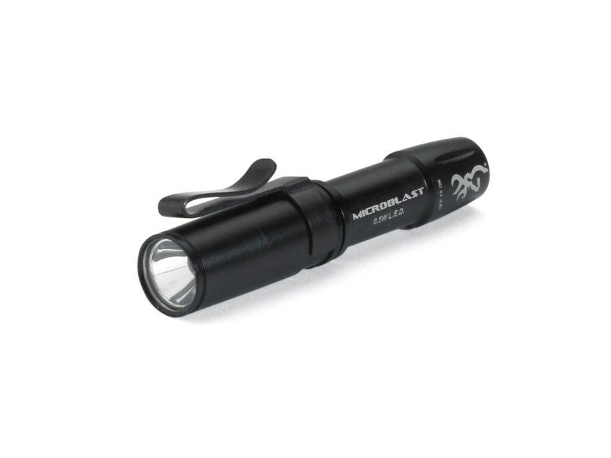 Browning Microblast Flashlight LED with 1 AAA Battery Aluminum Black