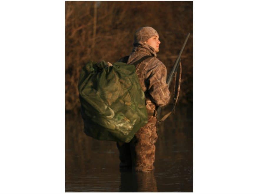 Avery Square Bottom Duck Decoy Bag Mesh Moss Green