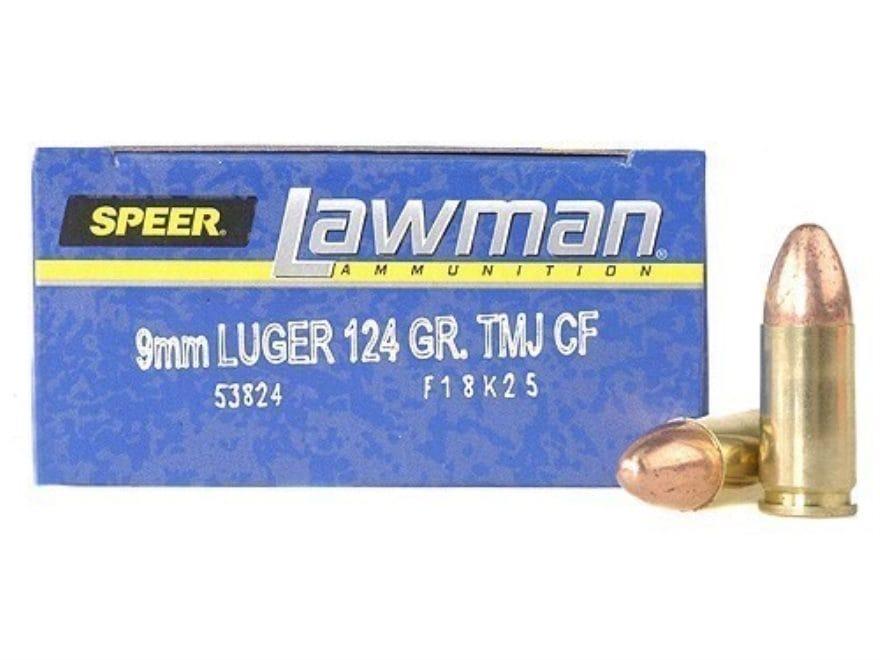 Speer Lawman Cleanfire Ammunition 9mm Luger 124 Grain Total Metal Jacket