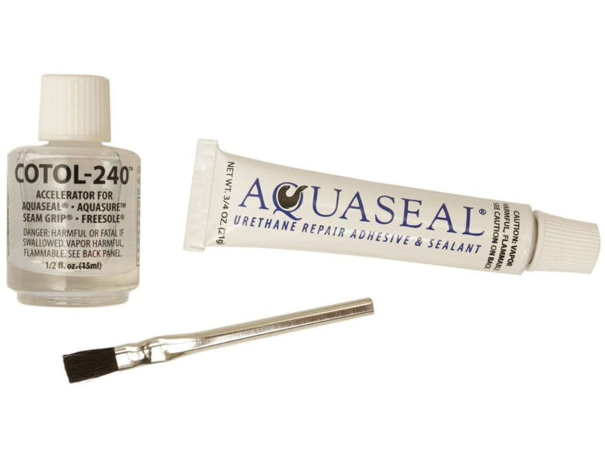 Gear Aid Aquaseal Waterproof Repair Adhesive Kit with Cure Accelerator