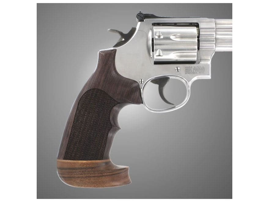 Hogue Fancy Hardwood Grips with Accent Stripe and Top Finger Groove Colt Python Oversiz...