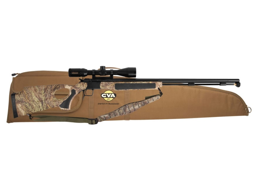"CVA Accura V2/LR Muzzleloading Rifle with KonusPro 3-10 x44mm Scope 50 Caliber 30"" Flut..."