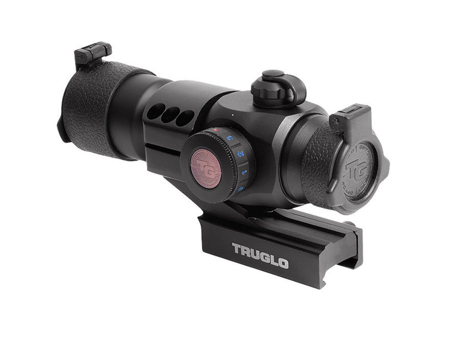 TRUGLO Triton Red Dot Sight 30mm Tube 1x 5 MOA Dot Red, Green, and Blue with Integral W...